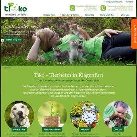 Die Startseite der neuen Tiko-Website in der Desktopdarstellung